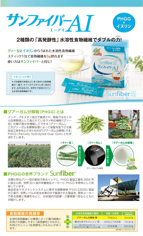 2種類の「高発酵性」水溶性食物繊維でダブルの力/グァー豆とイヌリンから生まれた水溶性食物繊維